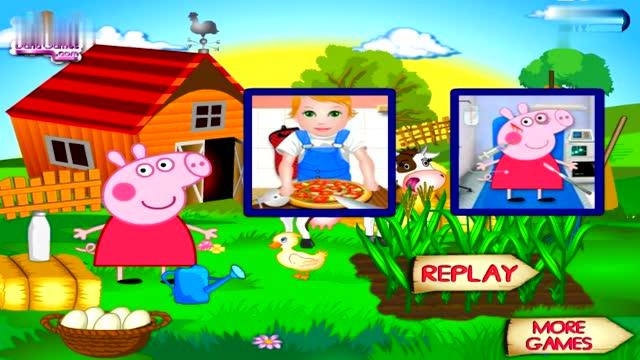 少儿动画 小猪佩奇沙滩度假 粉红猪小妹魔法涂鸦