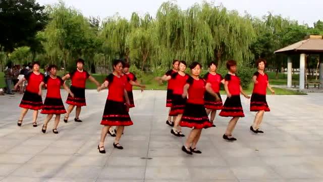 变队形广场舞《纳西情歌》风景好舞蹈好队形好
