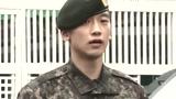 韩星Rain正式退役 简短行军礼谢媒体