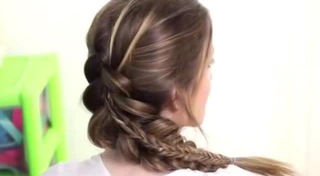 式马尾发型编发教程