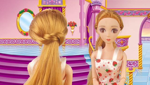 芭比娃娃的头发是用什么做的?图片