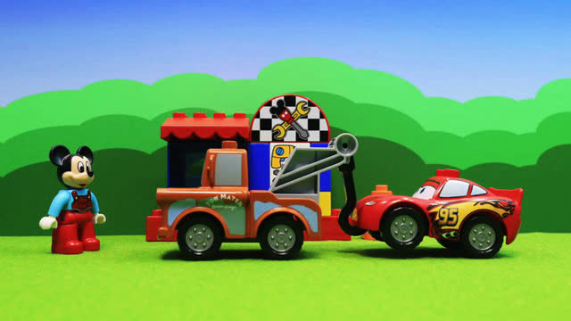米老鼠汽车修理厂!面包超人玩具动画片
