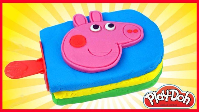 小猪佩奇培乐多彩泥冰棒冰糕冰淇淋!粉红猪小妹橡皮泥手工玩具