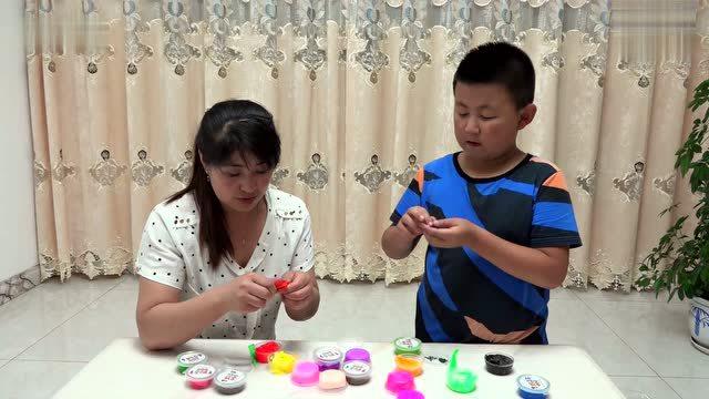 制作培乐多韩国超清雪花黏土制作各种水果和小动物