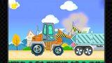 宝宝巴士22 挖掘机视频表演 宝宝巴士挖土机动画片挖掘机工作表演大全