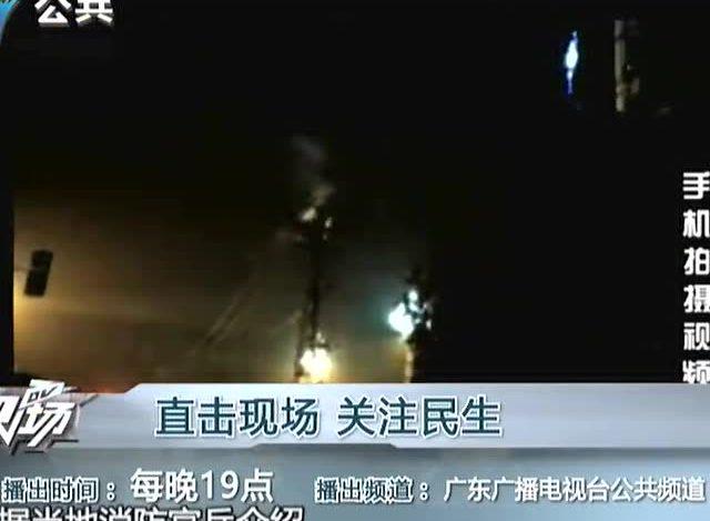 女子爬高压电塔触电 警方介入调查