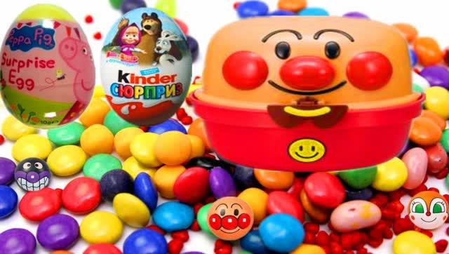 小猪佩奇与面包超人玩具 彩虹糖果奇趣蛋超级惊喜玩具蛋超级飞侠