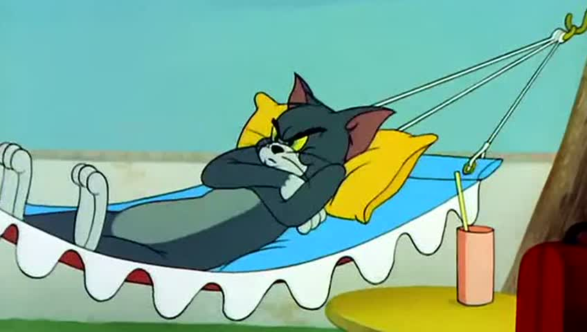 猫和老鼠,汤姆吊床大危机,杰瑞骨头找保镖