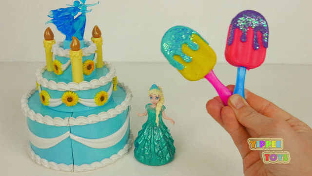 彩泥粘土diy手工制作冰淇淋雪糕公主蛋糕视频