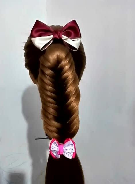 循环瀑布辫,编织发型,真人尝试更漂亮