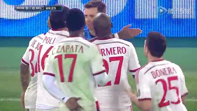 【集锦】10人米兰0-0罗马 阿尔梅洛染红德容逃点截图