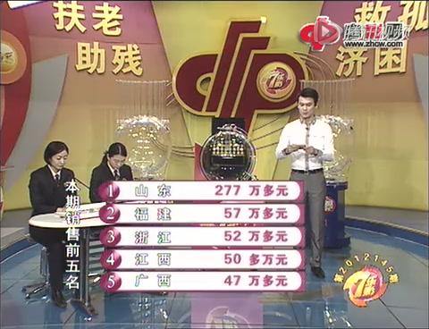 七乐彩第2012145期开奖:特别号码25截图
