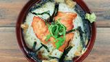 美食台:烤三文鱼茶泡饭