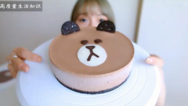 教你做可爱的小熊蛋糕