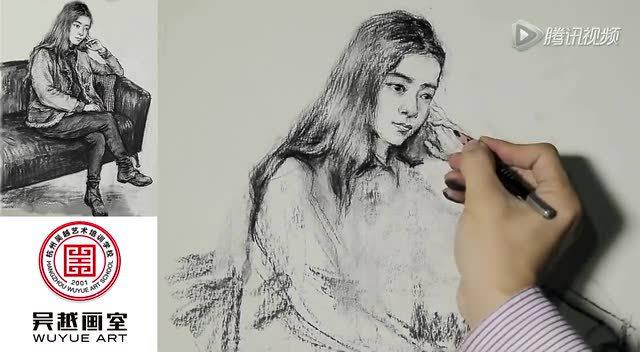 传奇绘画课堂之名师教学篇——建华速写:男青年蹲姿(上)