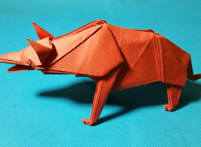 立体建筑折纸雕塑步骤图