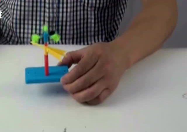 科技小制作大全做法 益智玩具风力风向标