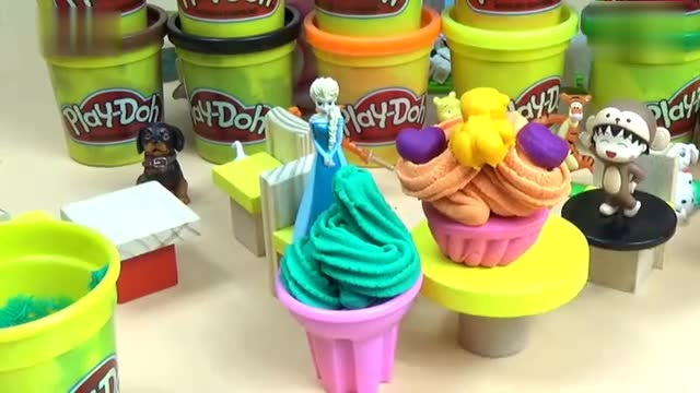 粘土手工制作甜筒