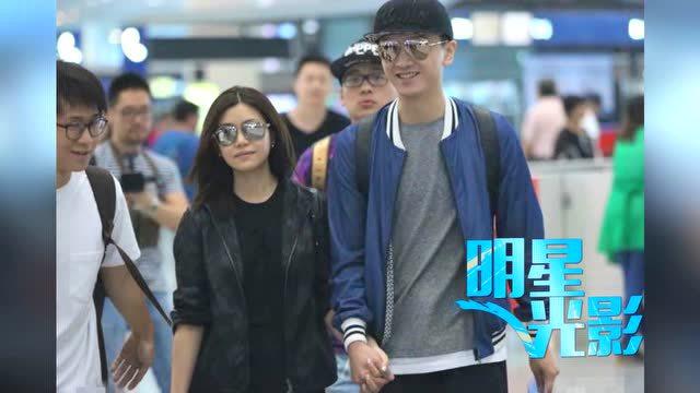 陈晓陈妍希回台北办归宁宴 机场深情对望全是爱