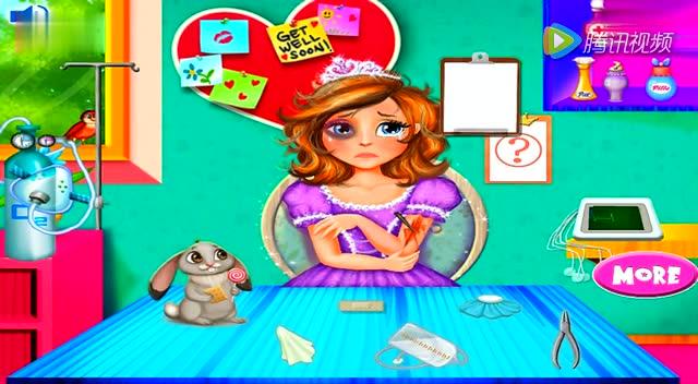 若涵乐园 亲子游戏 小公主苏菲亚 迪士尼公主 公主贴纸画