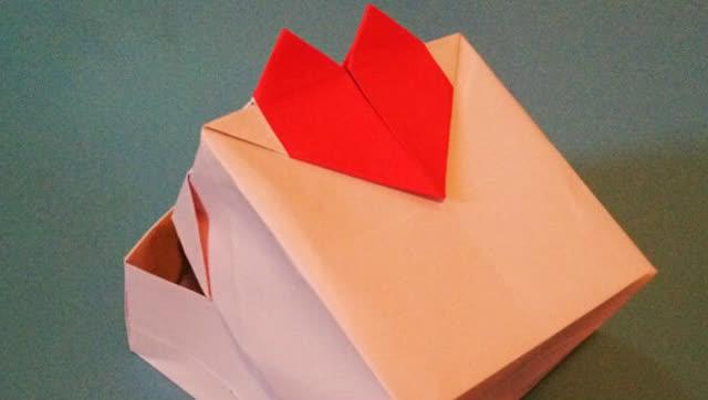 1分钟学会简单盒子的折法