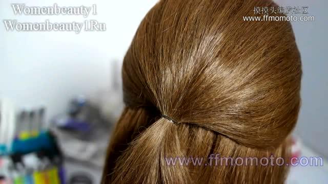 时尚盘发视频编发教程:儿童扎头发教程新娘发型视频流行编法