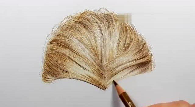 彩铅手绘头发图片展示