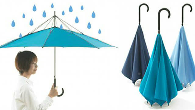 岛国奇葩发明:来自日本的反向雨伞图片