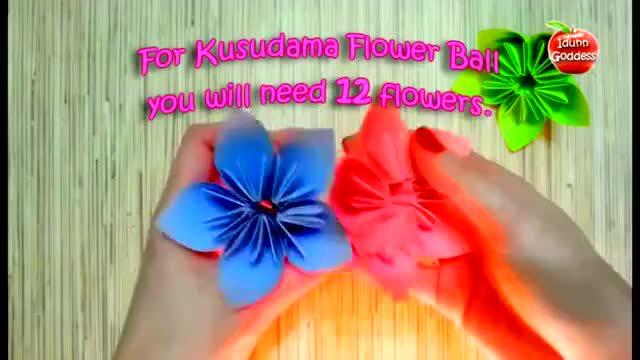 儿童手工折纸花教程:雏菊鲜花折纸视频教学