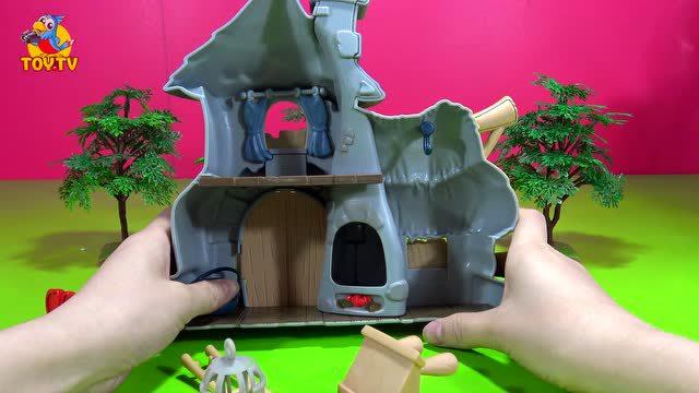 蓝精灵系列格格巫的魔法房子熊出没光头强