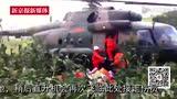 直升机悬停玉米地救人