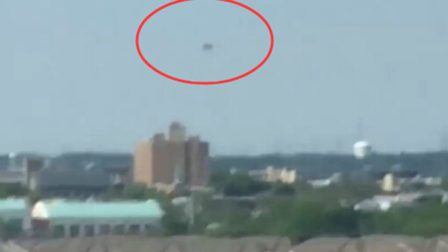 纽约上空疑似出现不明飞行物 悬浮几个小时才消失