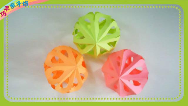 幼儿 创意折纸 大红灯笼 既可摆放又可悬挂 让年味浓起来