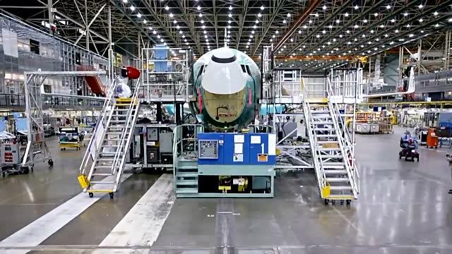 2分钟看完波音737飞机组装全过程