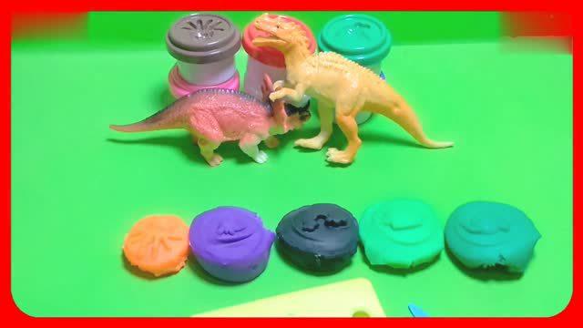 恐龙pk大灰狼 培乐多橡皮泥的动物世界玩具游戏 迪士尼培乐多橡皮泥