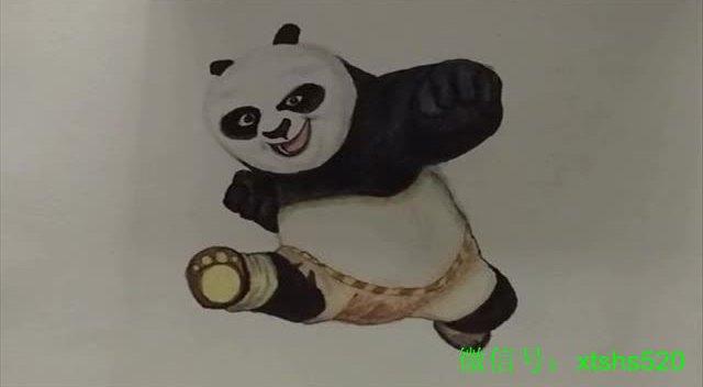 手绘功夫熊猫阿宝