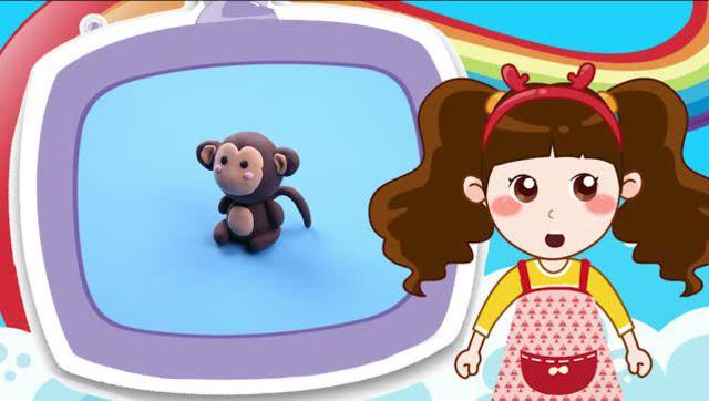 彩泥猴子子步骤图片大全