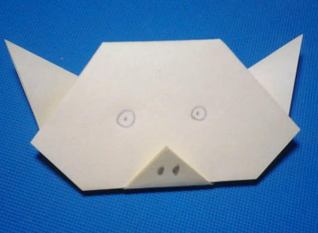 折纸王子教你折猪头 儿童折纸大全