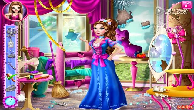 公主美人鱼小公主苏菲亚爱冒险的朵拉芭比巧手做裙子
