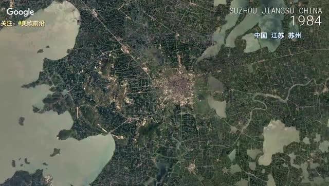 google地图卫星下中国32年的城市变迁合集,变化的太恐怖