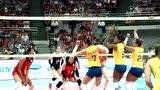 【全场回放】2017女排大奖赛:中国3-0巴西