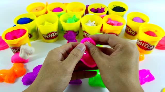 培乐多彩泥制作七彩小动物 鳕鱼乐园 亲子游戏