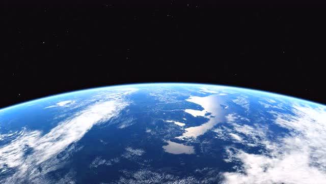 太空中看地球大气污染