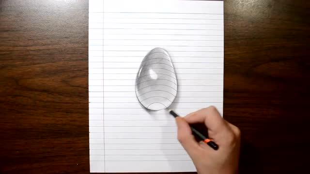 实拍手绘3d水滴 立体画你也学得会