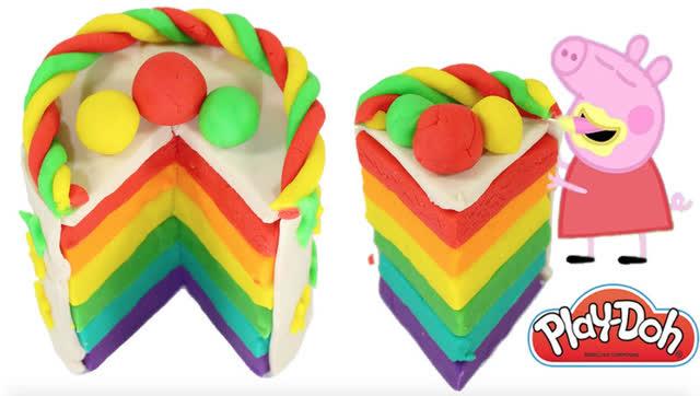 小猪佩奇 教你用培乐多彩泥制作蛋糕