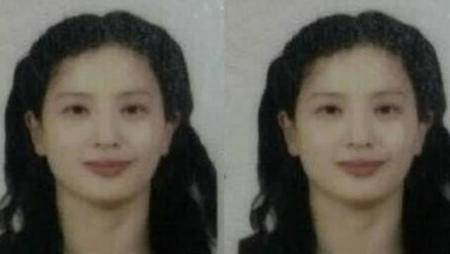 刘亦菲妈妈素颜证件照曝光