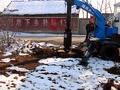 旋挖钻机雪天工作视频