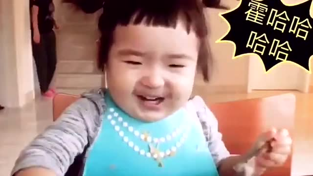 可爱吃货小萌妞,小蛮终于换发型了!