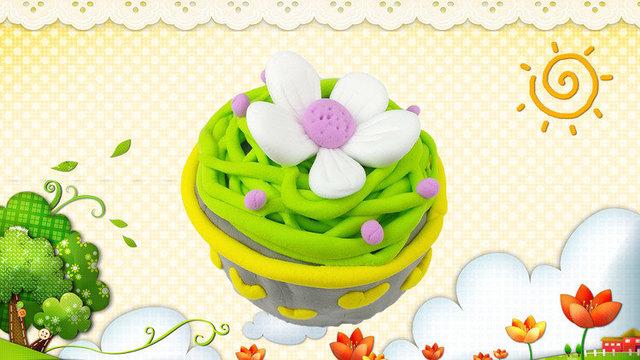 花园宝宝diy太阳花纸杯蛋糕