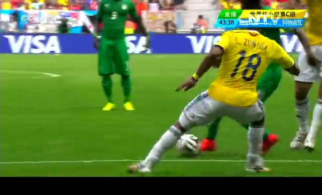 【科特迪瓦集锦】哥伦比亚2-1科特迪瓦 热尔维尼奥过人爆射一气呵成截图